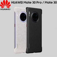 Original Huawei Mate 30 Pro Back Case Official Huawei Mate 30 Mate30 Pro Carbon Fiber Texture Leather Frameless Back Cover Case