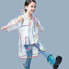 Yuding Trasparente Impermeabile Ragazzi Cappotto di Pioggia Con Cappuccio Allaperto Trasparente Impermeabile Ragazze Dei Capretti Del Bambino del bambino del rivestimento dei bambini Impermeabili