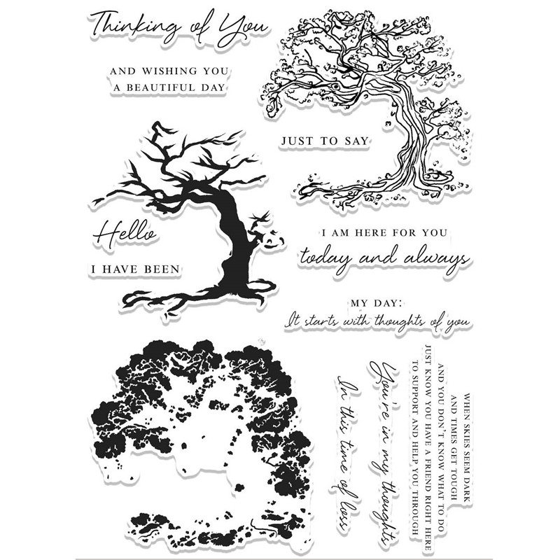 Trunk Lush Tree Metal Cutting Dies and Clear Stamps Scrapbooking New 2019 Die Cuts for Card Making Craft Stitch Troquele Stencil