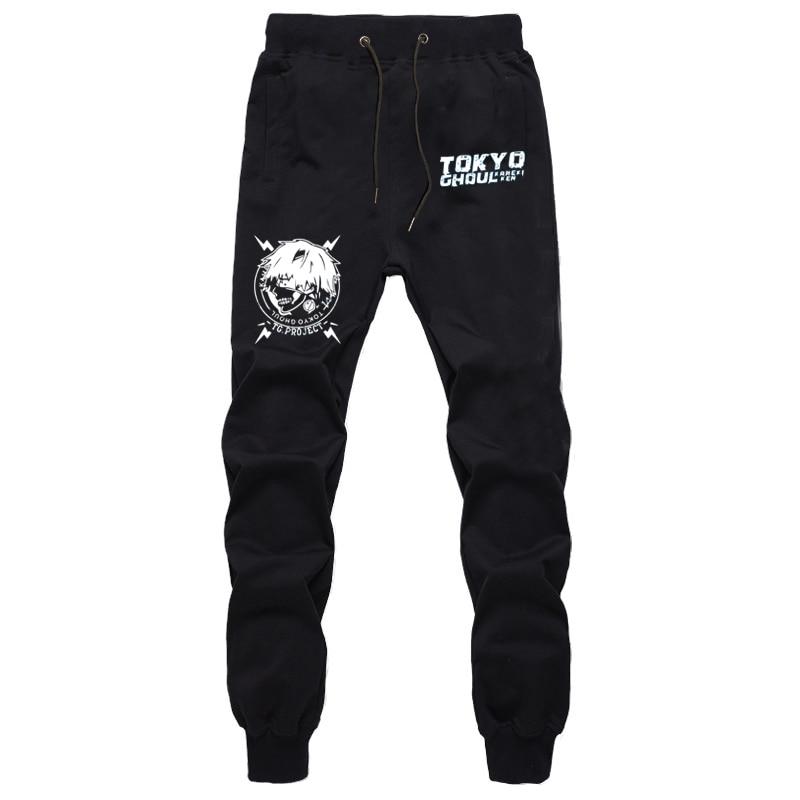 Anime Tokyo Ghoul Kaneki Ken Pants Men Casual Trousers Joggers Bodybuilding Fitness Pants Autumn Winter Sweatpants Plus Size