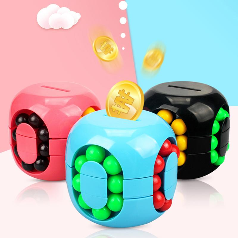 Child Money Storage Hamburg Cube Exercise Judgment And Discrimination 3D Puzzle Piggy Bank Kids Stress Relief Toys
