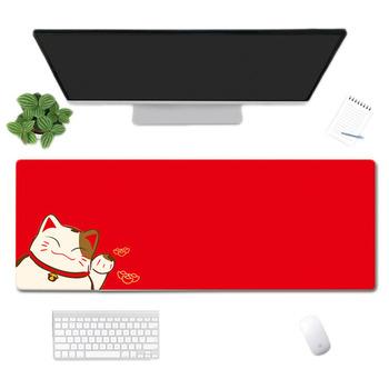 Podkładka pod mysz do gier kauczuk naturalny słodki kociak podkładka pod mysz do laptopa 80 #215 30 cm klawiatura antypoślizgowa podkładka do pisania podkład na biurko akcesoria komputerowe tanie i dobre opinie NoEnName_Null CN (pochodzenie) RUBBER Dostępny w magazynie