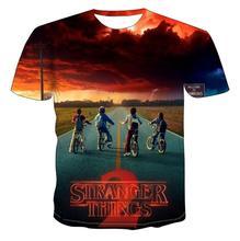 Stranger Things figure T-shirt men/women Short Tops Hot Tv series S- 6XL summer 2019 3D printed Tees