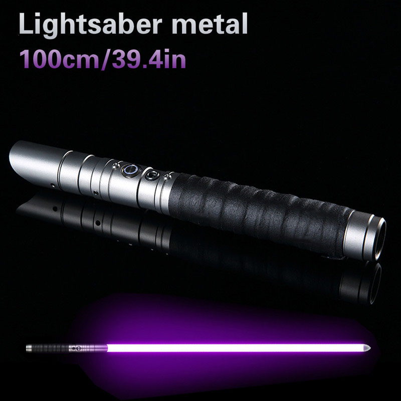 100cm Sword RGB Lightsaber Jedi Sith Light Saber 11 Color Lightsaber Metal Light Laser Cosplay Boy Gril Luminous Toy Hard Saber