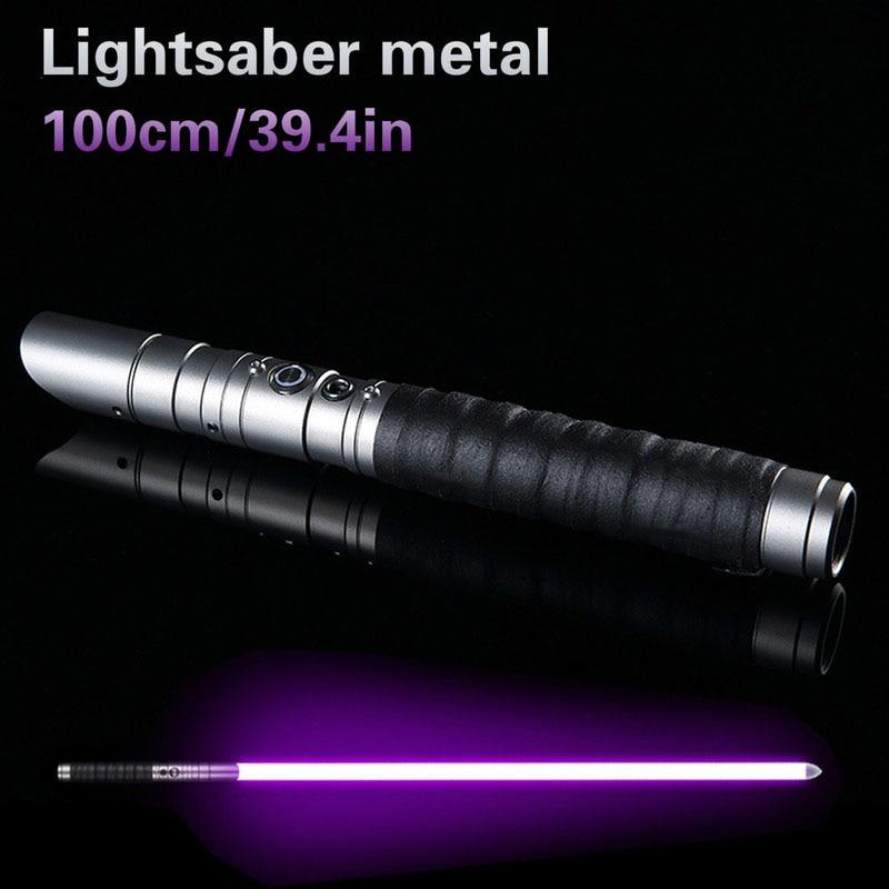 100cm Sword RGB Lightsaber Jedi Sith Light Saber 11 Color Lightsaber Metal Light Laser Cosplay Boy Gril Luminous Toy Hard Saber
