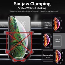 Gravity Car Holder For Phone in Car Air Vent Clip Mount No Magnetic Mobile Phone Holder GPS Stand For iPhone For Samsung HUAWEI universal gravity air vent mount gps stand car phone holder bracket supplies gravity car holder for phone in car air vent clip m
