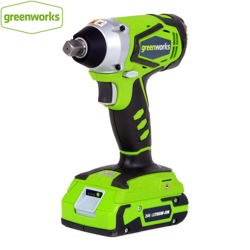 GREENWORKS 24V Lithium Battery 1 2 inch IMPACT WRENCH 300N m cordless wrench with battery and charger