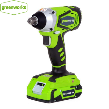 battery air compressor greenworks g24ac 24v without battery and charger GREENWORKS 24V Lithium Battery 1/2 inch IMPACT WRENCH 300N.m cordless wrench with battery and charger