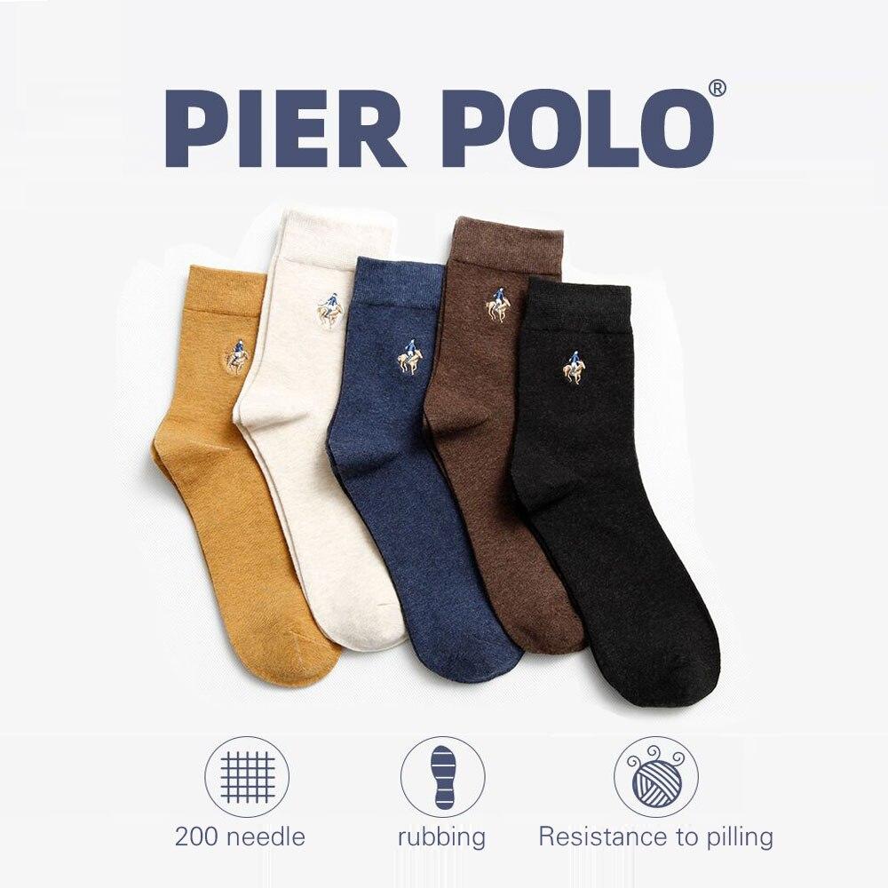 Image 3 - PIER POLO Socks Man Cotton Dress Socks Brand New Business Male Socks Men High Quality Leisure Long Socks For Gift Size 39 44-in Men's Socks from Underwear & Sleepwears