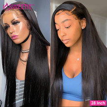 Sweet13X4 Lace Front Human Hair Wigs PrePlucked 30inch Malaysian Bone Straight Glueless Lace Frontal Wig Human Hair 4x4 Wig