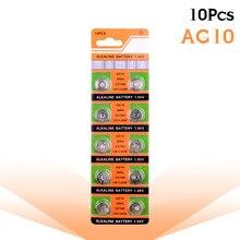 10-pces/bloco ag10 lr1130 389 sr1130 botão baterias 189 lr54 pilha moeda alcalina bateria 1.55v sr54 389 189 para brinquedos de relógio remoto