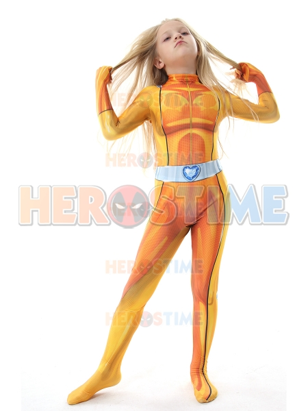 Alex Totally Spies Kids Halloween Costume 3D Print High Quality Spandex Superhero Cosplay Zentai Bodysuit Freeshipping