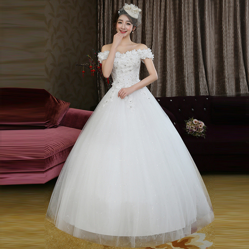 2019 Vestido Cocktail Fashion Lace Korean Princess Dress Bridal Bandage Flower One Shoulder Wedding 2020 New Special Price H82