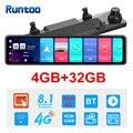 Автомобильный видеорегистратор 1080P 12 дюймов 4G Android зеркало заднего вида GPS WIFI ADAS видеорегистратор 4G + 32G двойной объектив передний и задний ав...