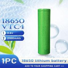 1 adet 100% orijinal 3.6v 18650 VTC4 2100mah lityum şarj edilebilir pil Sony için yüksek drenaj 30A deşarj elektrik araçlar