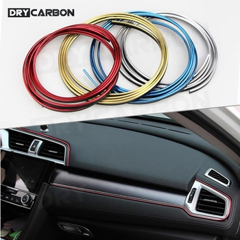 100cm Universal Car Door Dashboard Air Outlet Steering wheel Auto car Styling Flexible Interior Decoration Moulding image