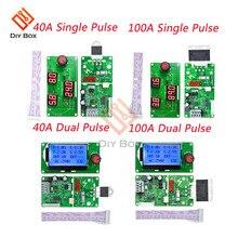 40A 100A одиночный двойной импульсный цифровой точечный сварщик управление сваркой Лер плата точечный паяльник паяльная машина контроль времени модуль