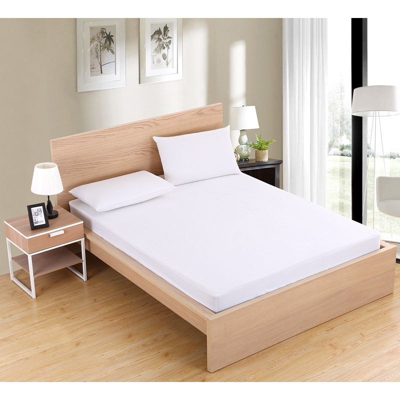 220x200cm Mattress Cover Solid Soft Fitted Sheet Elastic Band High Quality Mattress Protect Cover Air-Permeable Anti Dust Mite