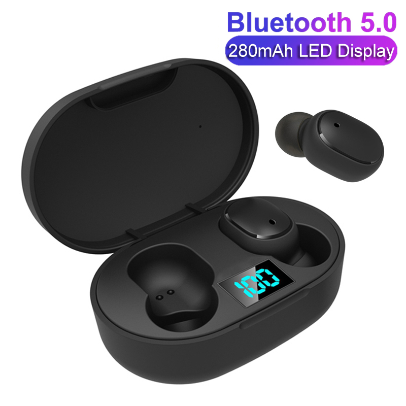 TWS Wireless Earphone For Redmi Airdots Earbuds LED Display Bluetooth V5.0 Headsets With Mic For IPhone Huawei Samsung Pk A6S