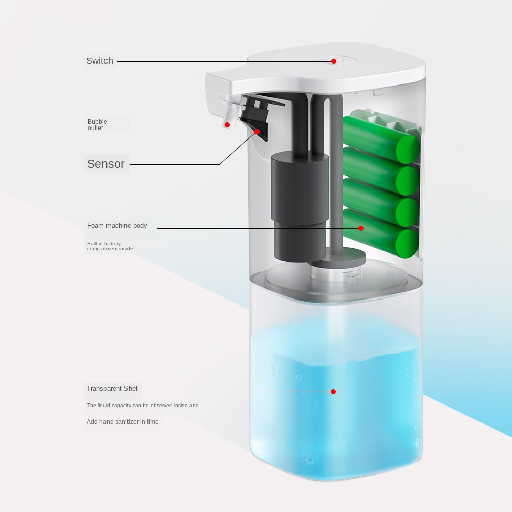 He89a8066f98a4bee9a689f55d5c93ff8W Automatic Foam Soap Dispenser Infrared Sensing Foam Soap Dispenser Induction Liquid Soap Dispenser For Bathroom Kitchen Hotel