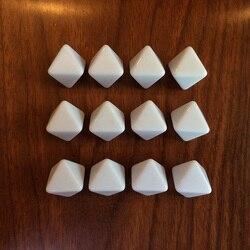 15 peças comprimento lateral 18mm d8 branco dados em branco para jogos de tabuleiro dty acessórios do jogo