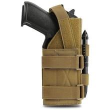 Molle pistola coldre 1000d tático modular cinto bolsa para a mão direita g17 18 19 26 34 militar rifle coldre para 1911 glock