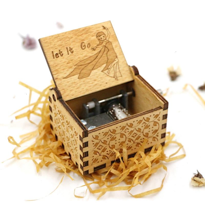 Старинная Музыкальная шкатулка с ручной резьбой по дереву в качестве подарка на день рождения и Рождество для вас и ваших друзей - Цвет: 6