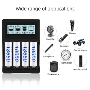 Image 5 - PALO 4 slots LCD Display 18650 battery Charger for 18650 14500 18500 16350 battery 3.7V series lithium ion battery charging
