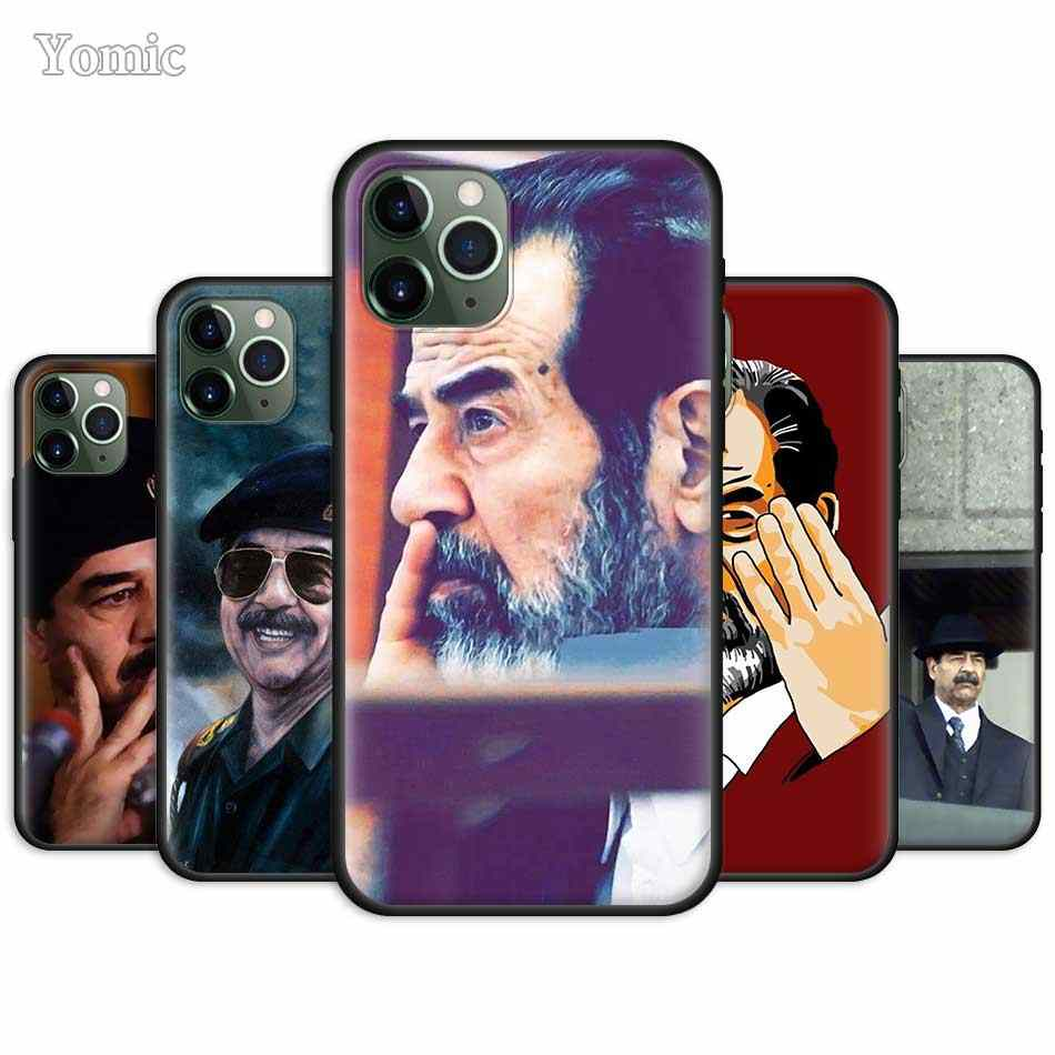 Saddam Hussein Irak Smart Ingericht Case Voor Apple Iphone 7 11 Pro Xr 6 X Xs Max 8 6S plus 5 5S Se 2020 Tpu Zwart Soft Phone Cover