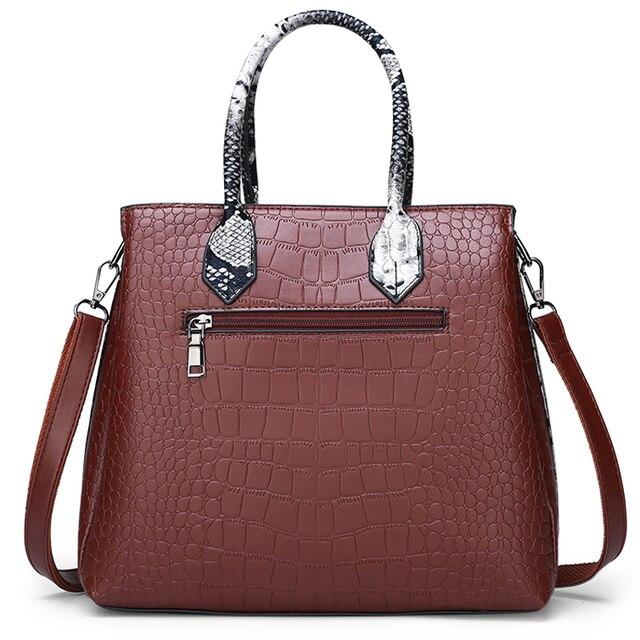 Classic Crocodile Pattern Handbag  4