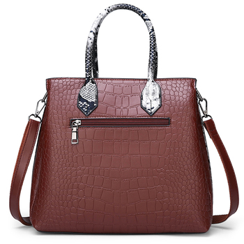 Women\'s bag luxury brand designer high quality classic crocodile pattern handbag 6