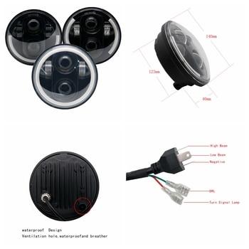 5-3/4 5.75 אינץ מקרן LED עם Halo נהיגה אור אופנועים פנס לרחוב בוב Nightster לילה מוט פנס