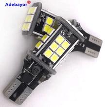 50 sztuk Super Bright T15 W16W 921 912 3030 24 LED SMD CANBUS bez błędu samochodów Backup Reserve żarówka lampa tylna adebayor