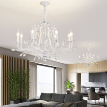 Lustre Vintage Chandelier Crystal Lighting Living Room Bedroom Chandeliers Loft Retro Home Decor Lustres Cristal Light Fixture