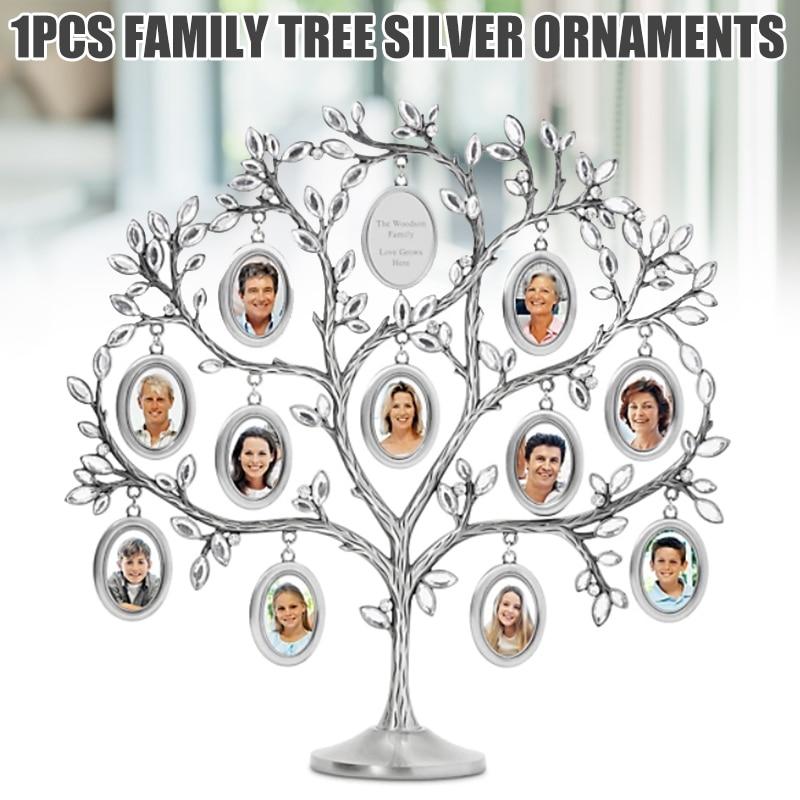 moldura prata decoração do agregado familiar ja55