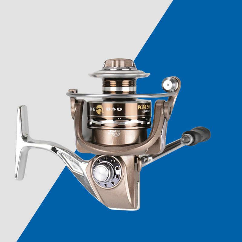 الغزل المعدني الكامل الصيد بكرة سوبر لفائف 13 BB/10 BB KM1000-7000 سلسلة Baitcasting بكرة المحيط الشاطئ الصيد تيار