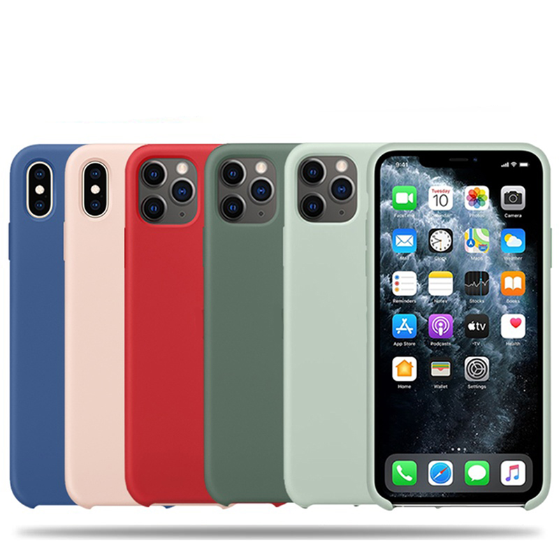 Original-with-logo-Silicone-Case-for-iPhone-11-Pro-Xs-Max-iPhone-SE-2020-XR-X
