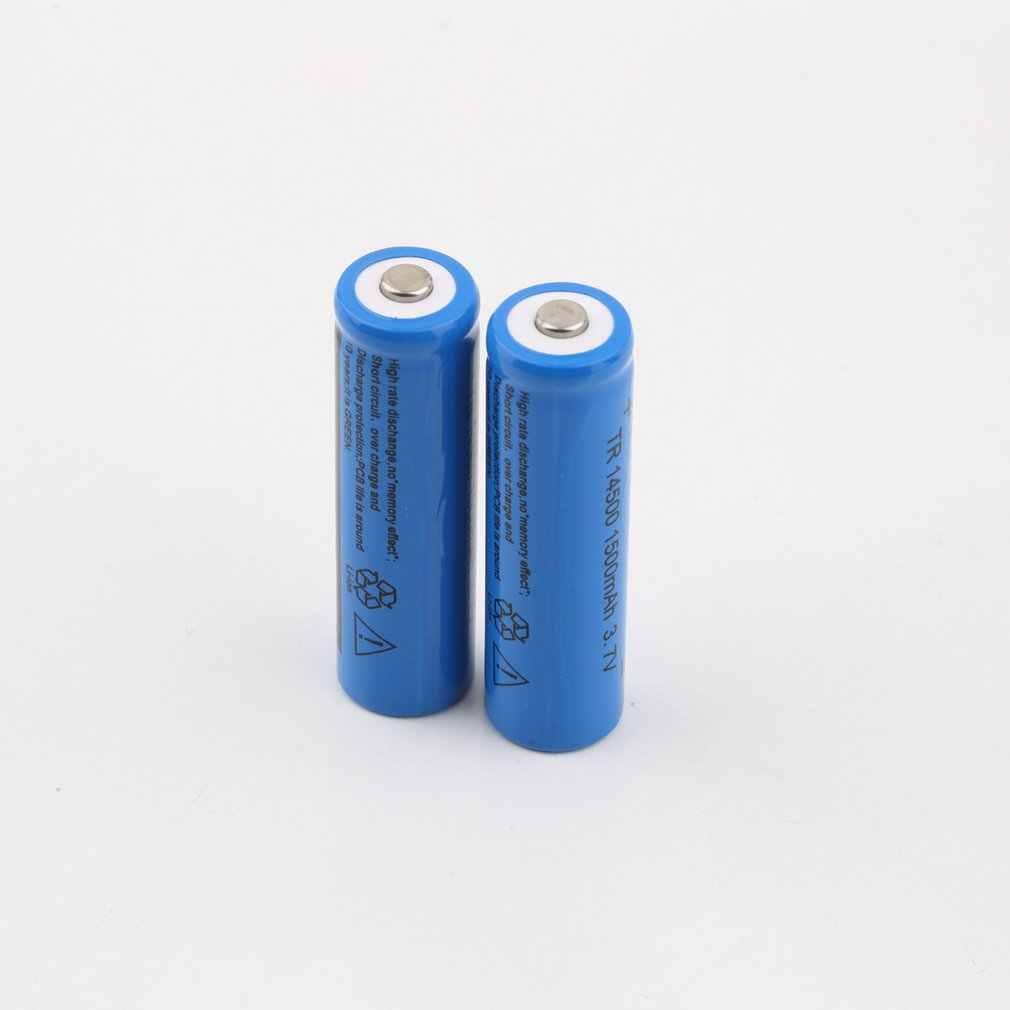 مصباح ليد جيب الشعلة الصغيرة الأصلية 3.7 فولت المهنية 1500mAh القياسية 600mAh 14500 قابلة للشحن بطارية ليثيوم أيون الأزرق