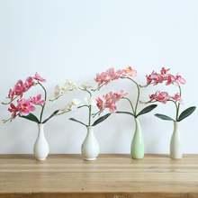 Искусственные 9 головок латексный цветок фаленопсиса настоящая