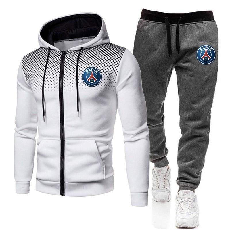 2020新しい印刷トラックスーツ男性熱男性スポーツウェアセット綿パーカー + パンツスポーツスーツカジュアルスウェットスポーツスーツ