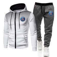 2020 nowy drukuj dres mężczyźni termiczne mężczyźni zestawy odzieży sportowej bawełniana bluza z kapturem + spodnie strój sportowy bluzy w stylu Casual Sport garnitur