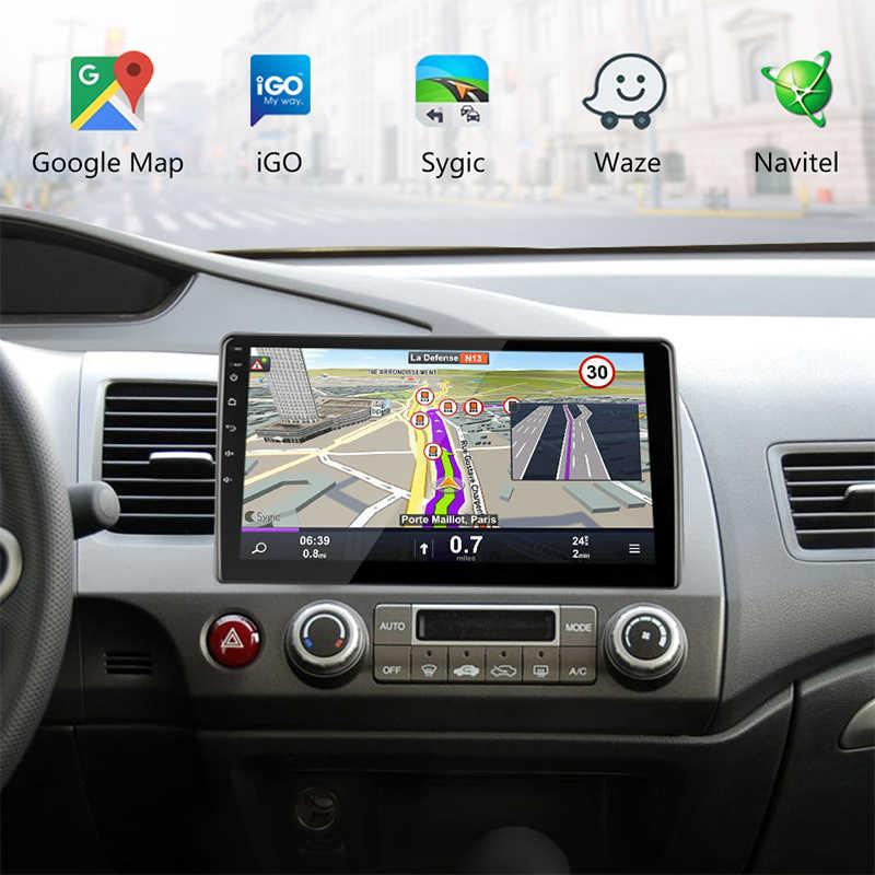 2G 3 2G Android 8,1 4G wifi Автомобильный Радио Мультимедиа Видео плеер для Honda Civic 2005-2011 Навигация gps 1024*600 + специальная рамка