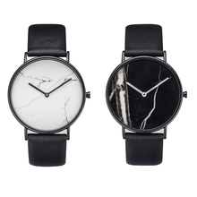 часы Fashionable contracted marble horse watch male lady student lo