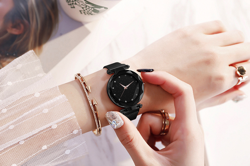 He89bf8b6fb6346db945b47425a465d867 Luxury Women Watches Ladies Magnetic Starry Sky