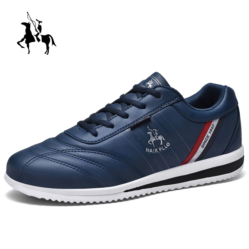 Golf Men's Professional Sports Shoes Non-slip Training Golf Sports Shoes Waterproof Leather Walking Shoes Black Blue Fitness 7