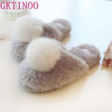Women Slippers Home Shoes Warm Winter Slippers Girls Ladies For House Bedroom Comfortable Cotton Plush Guest Indoor Flats
