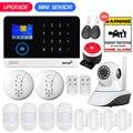 PG103 WIFI GSM GPRS sistema de alarma de seguridad para el hogar Mini PIR Detector de puerta de movimiento 9 idiomas 2,4 pulgadas TFT Display APP Control RFID