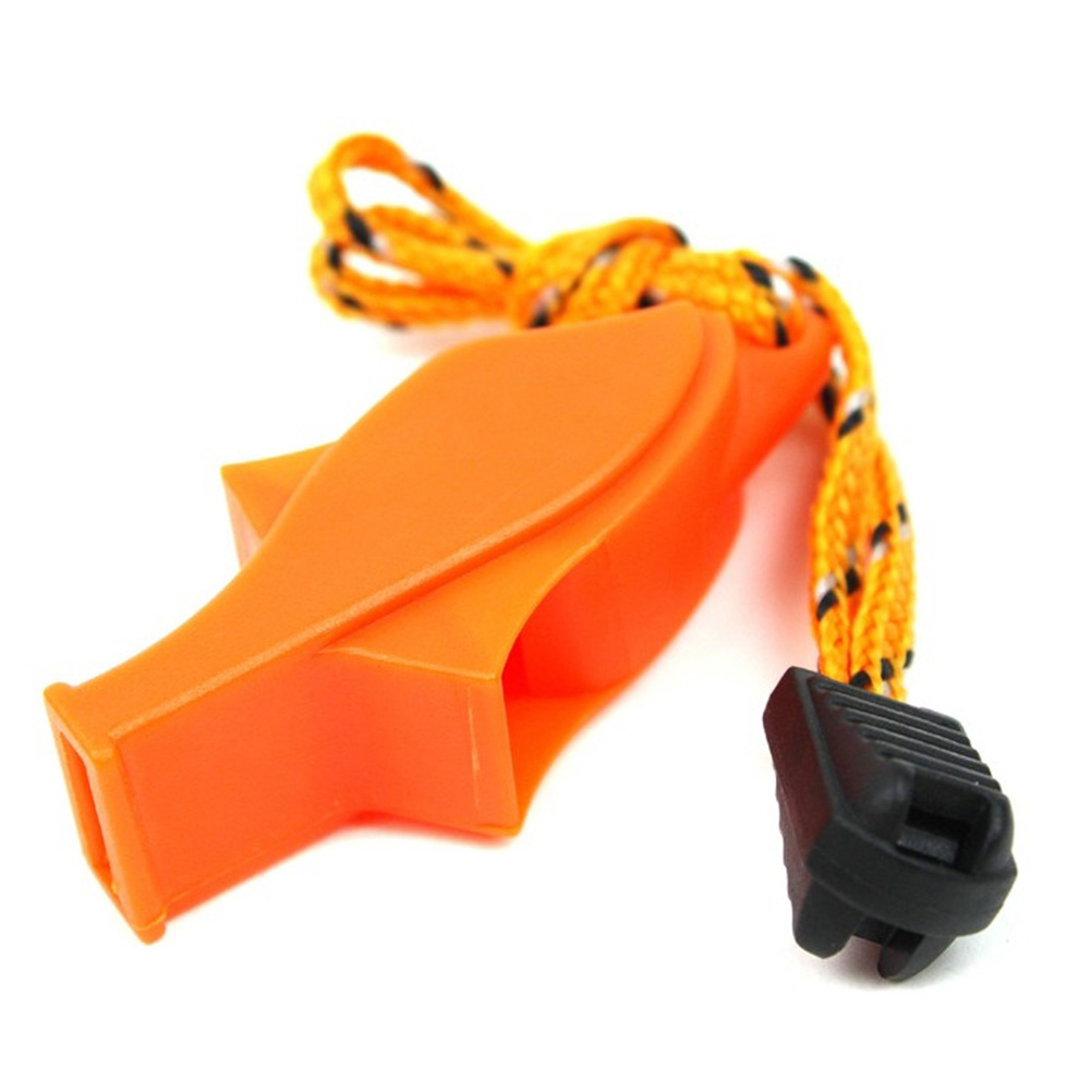 New EDC Plastic Sports Competition Dolphin Shape Whistle Survival Emergency Tool Basketball Football Whistle With Rope