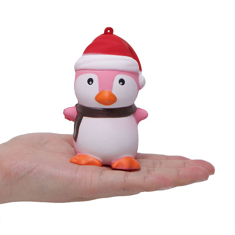 Decompression PU Squeeze Toy Christmas Penguin Model Slow Rising Stress Reliever