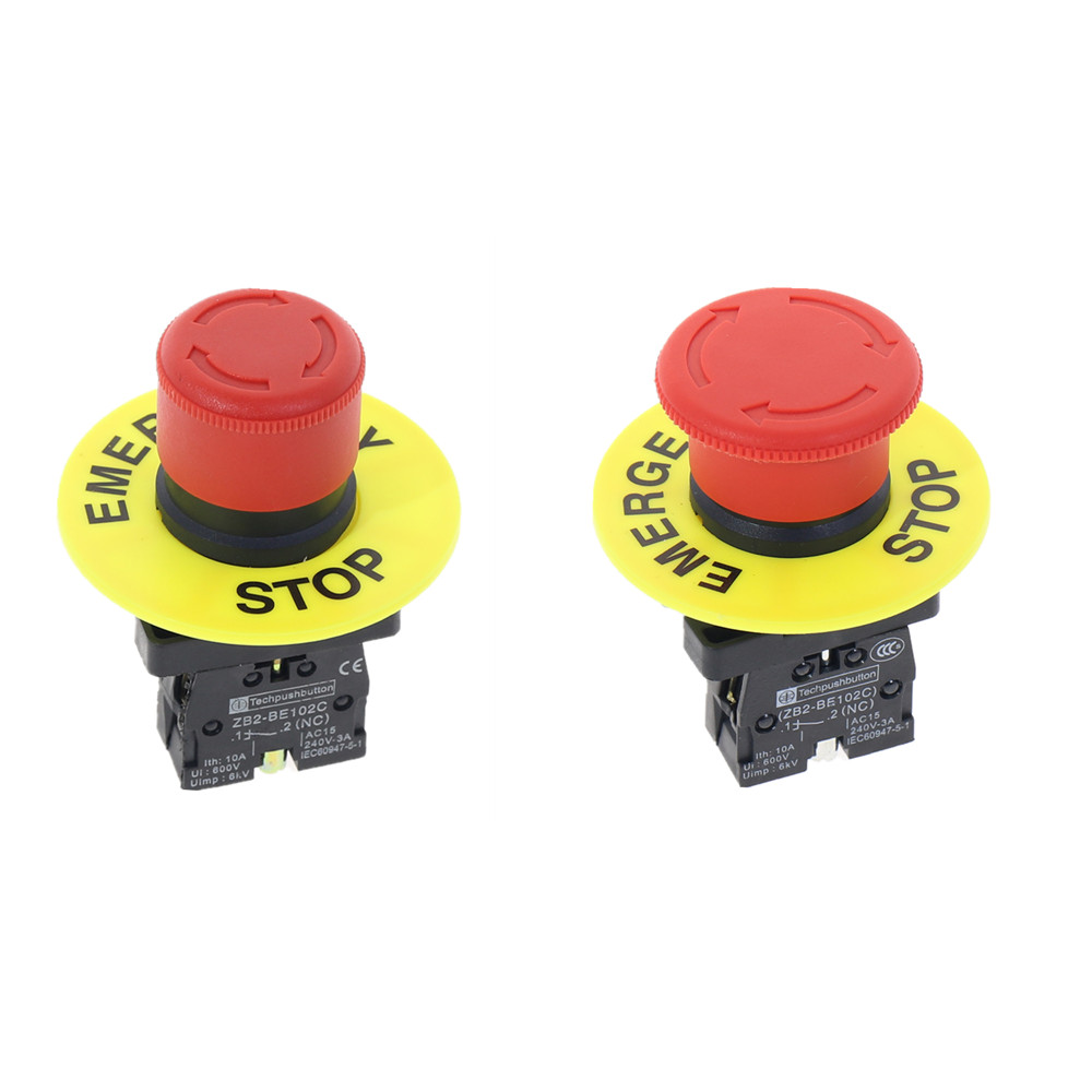 ZB2-BS542 BS442 22mm Emergency Push Lock Turn To Release Push Button Switch